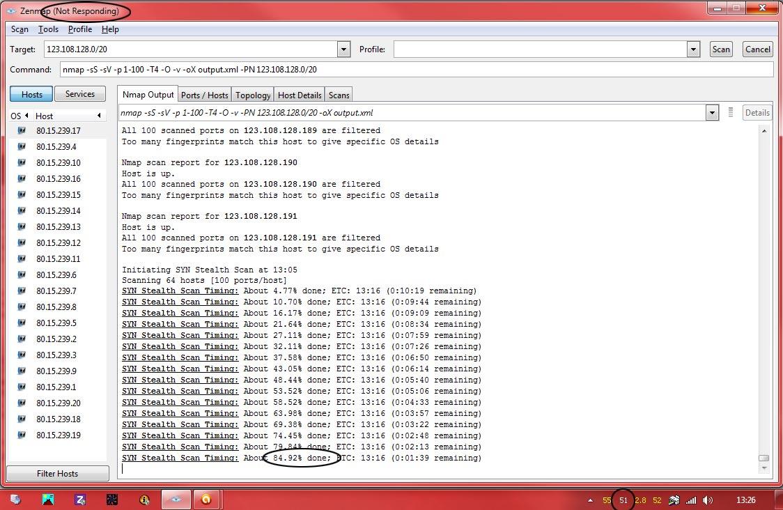 Nmap Development: Re: Zenmap Crashing and CPU Utilisation