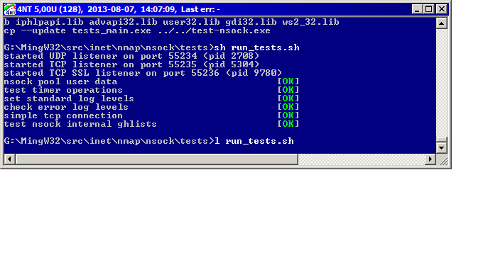 Nmap Development: Re: [Patch] nsock/tests/tests_main c