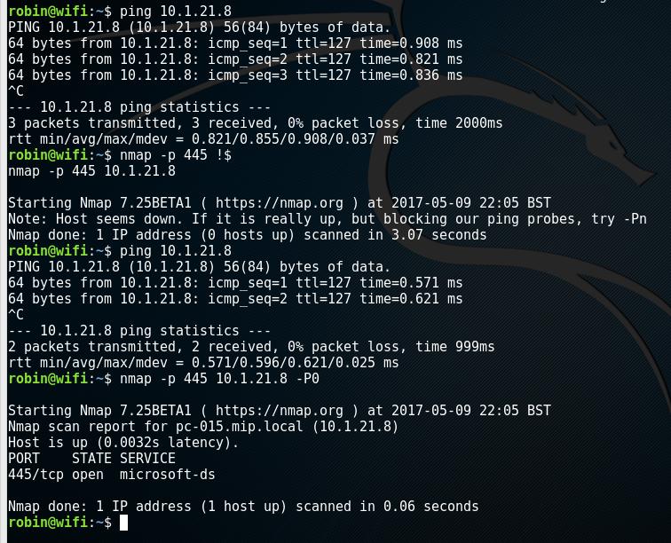 Nmap Development: default host detection