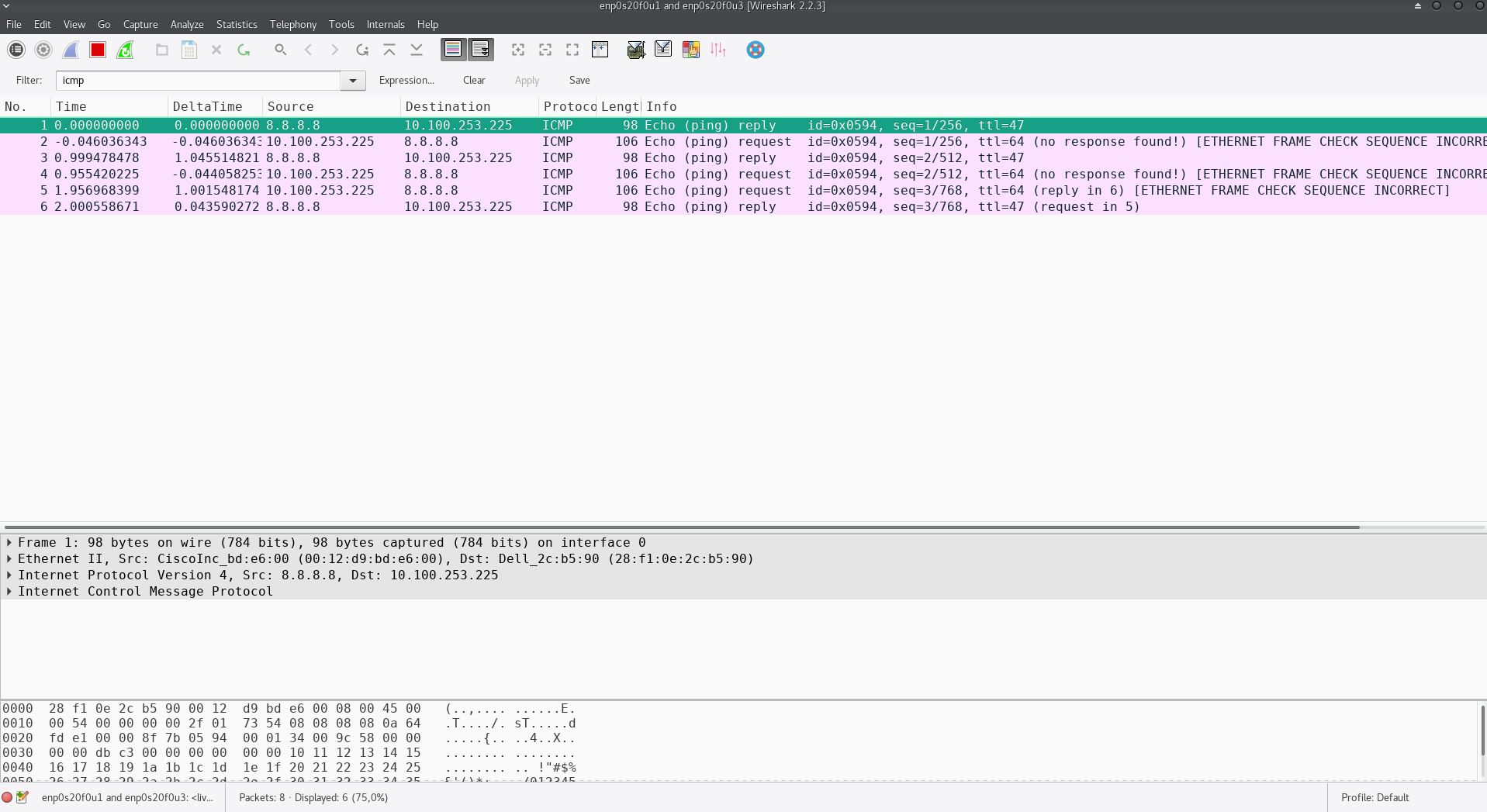 Wireshark: capture issue with passive network tap - ETHERNET FRAME ...