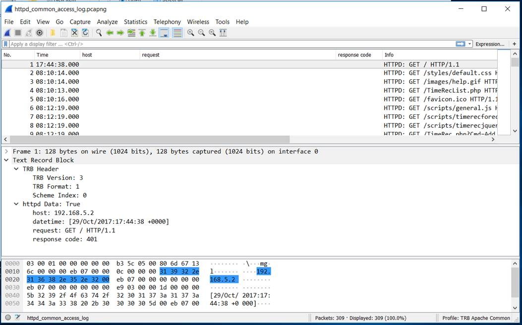 Wireshark: New pcap-ng block requires a rescan